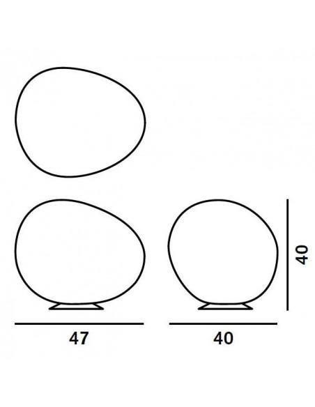 Lampe de Sol Gregg Grande Outdoor Foscarini plan dimensions