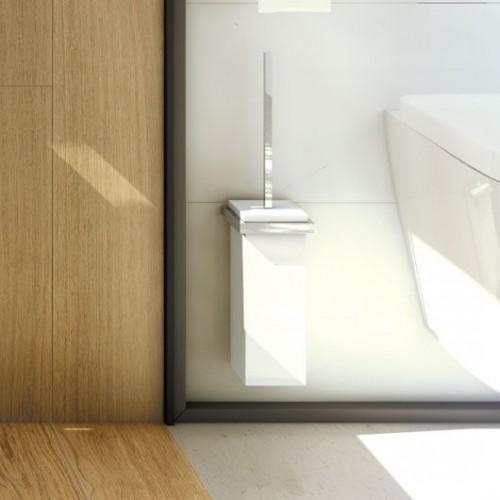 Brosse Toilette Et Porte Balai Mural Valente Design - Porte brosse wc