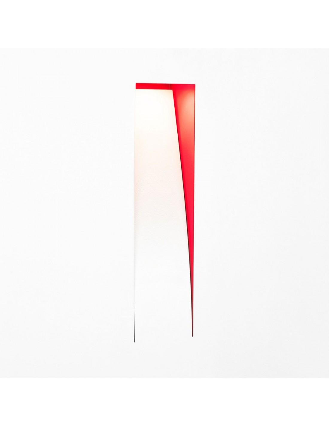 Applique murale Santiago blanche intérieur rouge création de la marque Kinetura