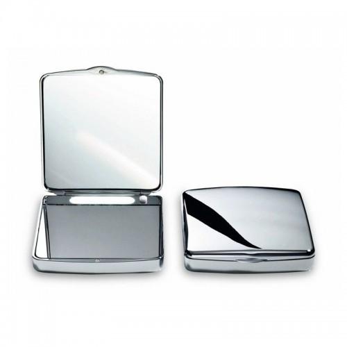 Miroir de poche grossissant éclairant à pile