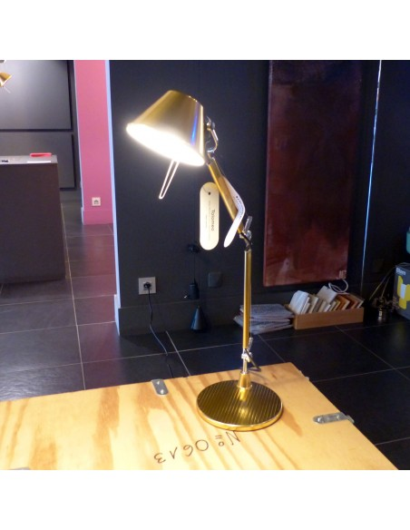 Lampe de table Tolomeo Micro Gold artemide edition limite