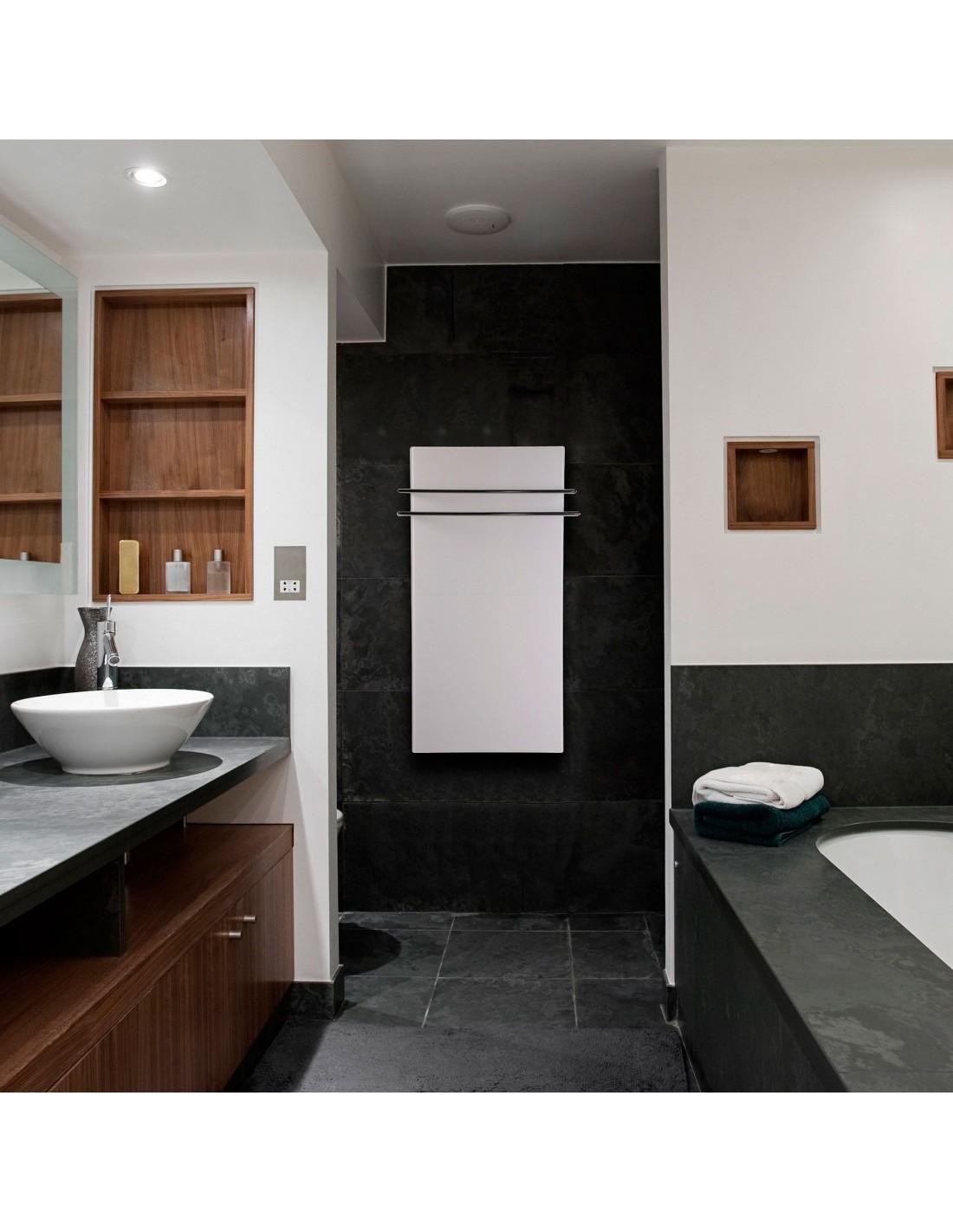 Sèche serviettes Solaris 1200w blanc mat de la marque Fondis - Valente Design