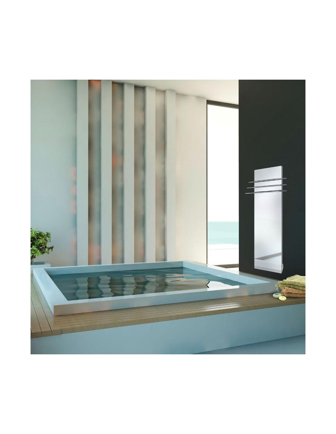 Sèche serviettes Solaris 1500w effet miroir de la marque Fondis - Valente design