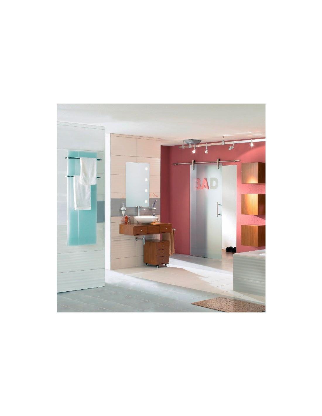 Sèche serviettes Solaris 45 1000w blanc brillant avec reflet vert de la marque Fondis - Valente Design