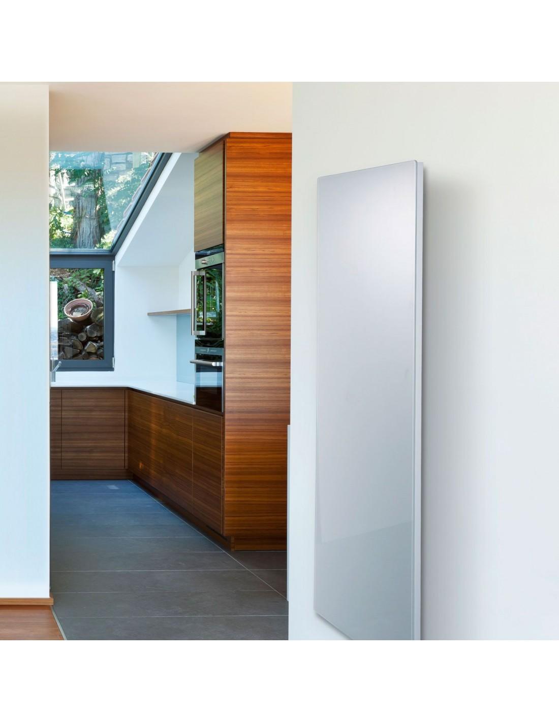 Radiateur Solaris vertical 1500W effet miroir de la marque Fondis - Valente Design