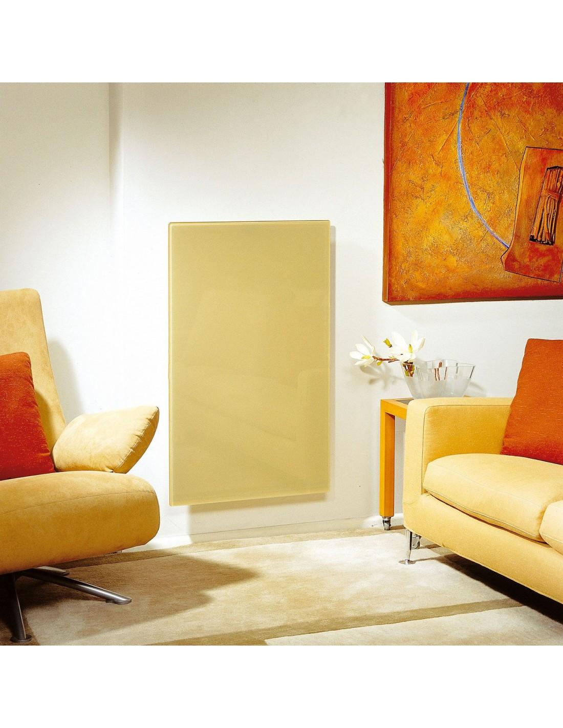 Radiateur Solaris vertical 63 1000W beige brillant de la marque Fondis - Valente Design