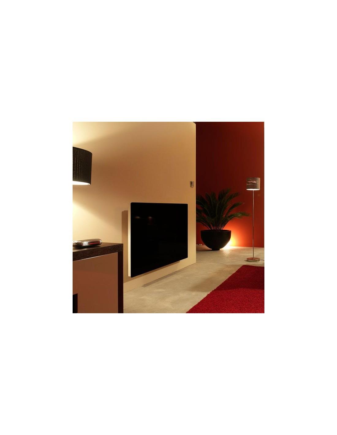 Radiateur Solaris horizontal 63 1000W noir brillant de la marque Fondis - Valente Design