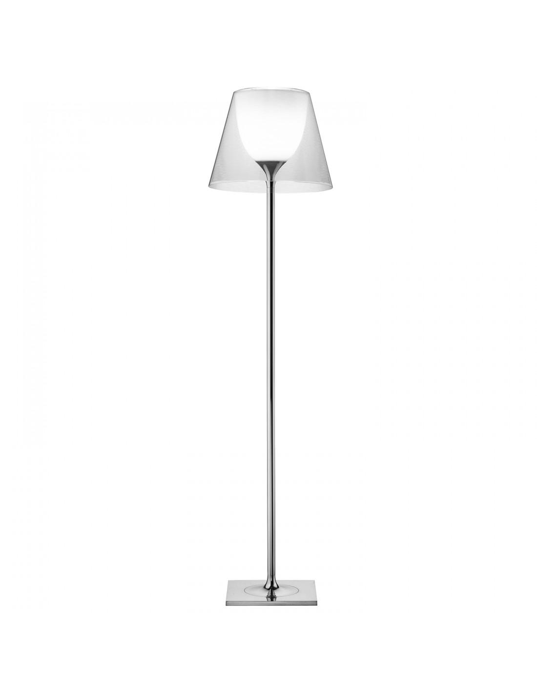 Lampadaire Ktribe F2 avec abat-jour transparent - designer Philippe Starck - marque FLOS - revendeur Valente Design