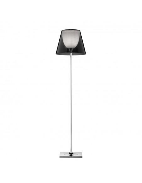 Lampadaire Ktribe F2 avec abat-jour de couleur fumé - designer Philippe Starck - marque FLOS - revendeur Valente Design