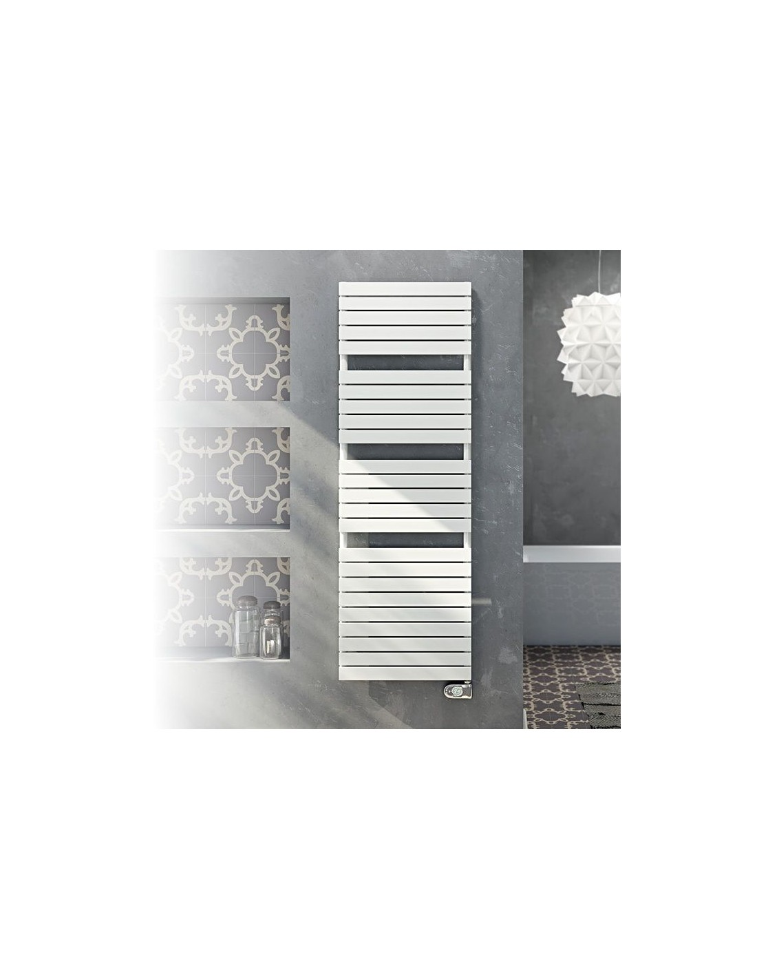 Sèche serviettes électrique Dory 450W finition blanche