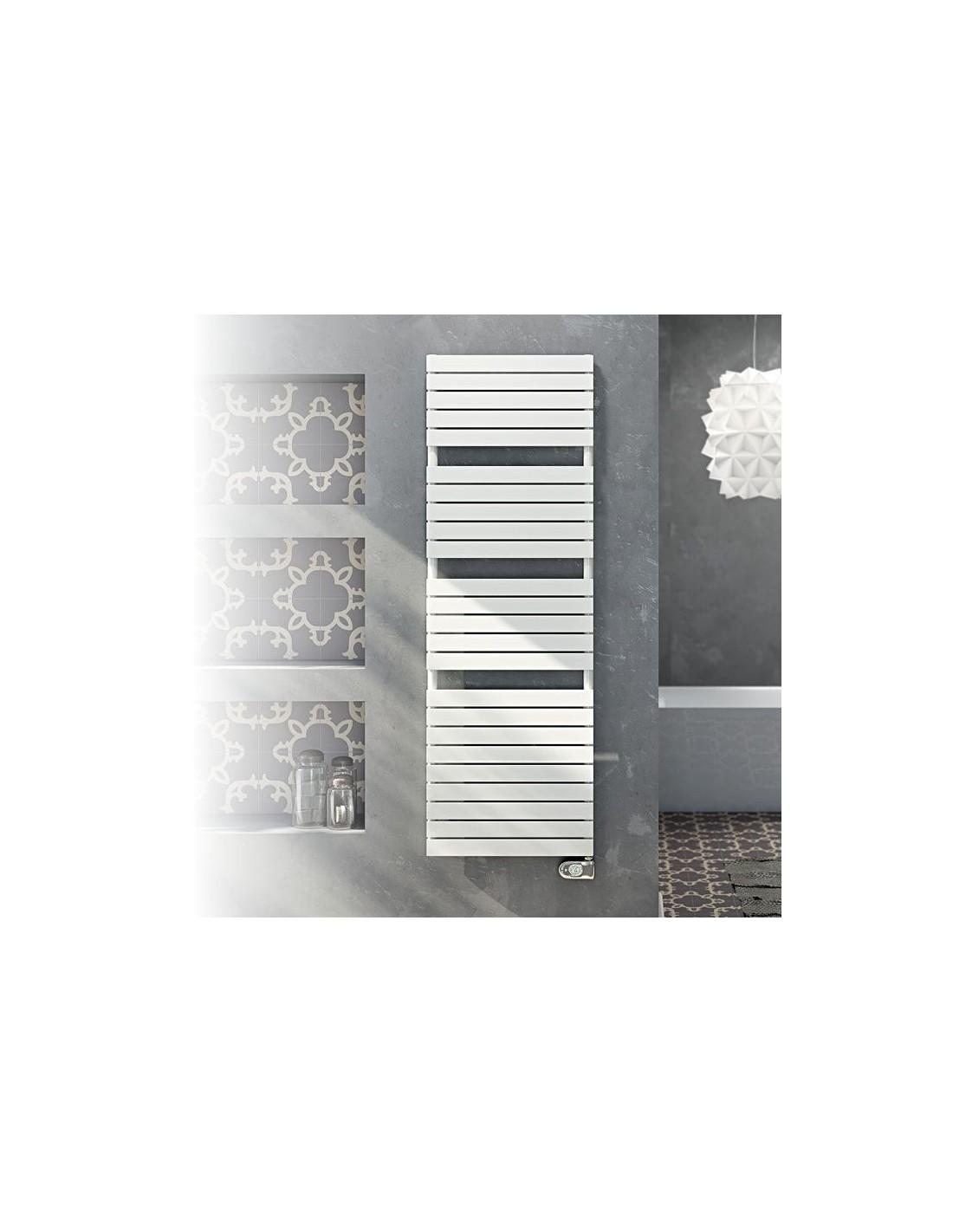 Sèche serviettes électrique Dory 1200W en finition blanche