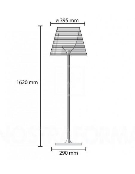 Schéma du lampadaire Ktribe F3 - designer Philippe Starck - marque FLOS - revendeur Valente Design