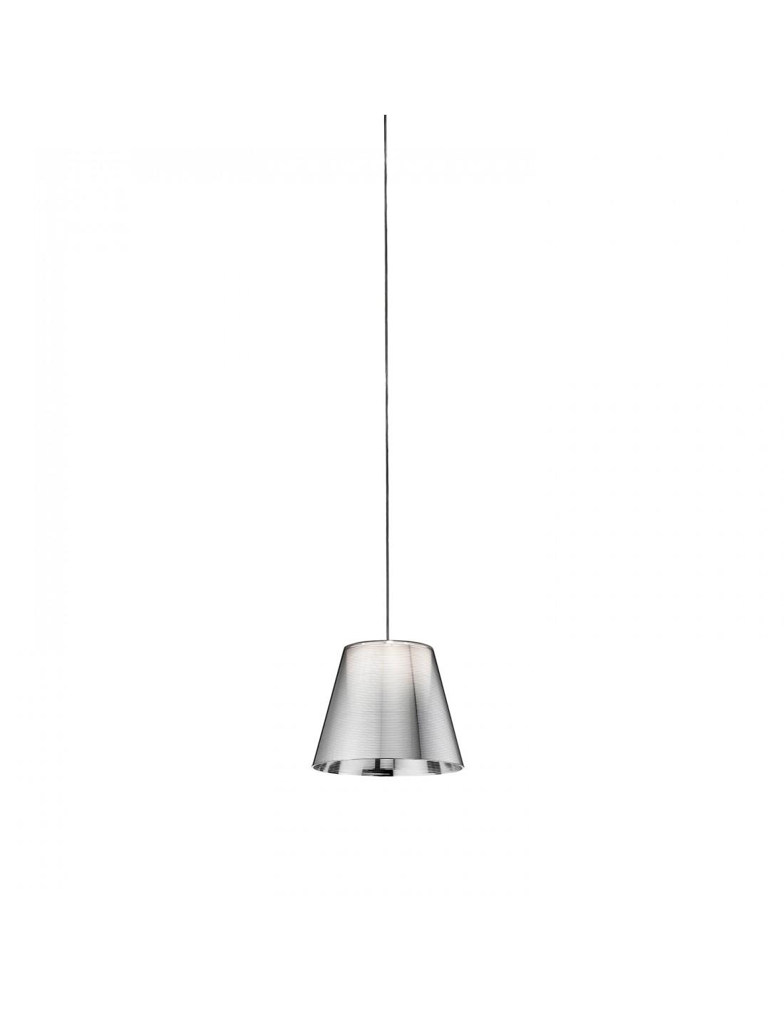Suspension Ktribe S1 couleur argent métallisé par Philippe Starck pour la marque Flos chez Valente design