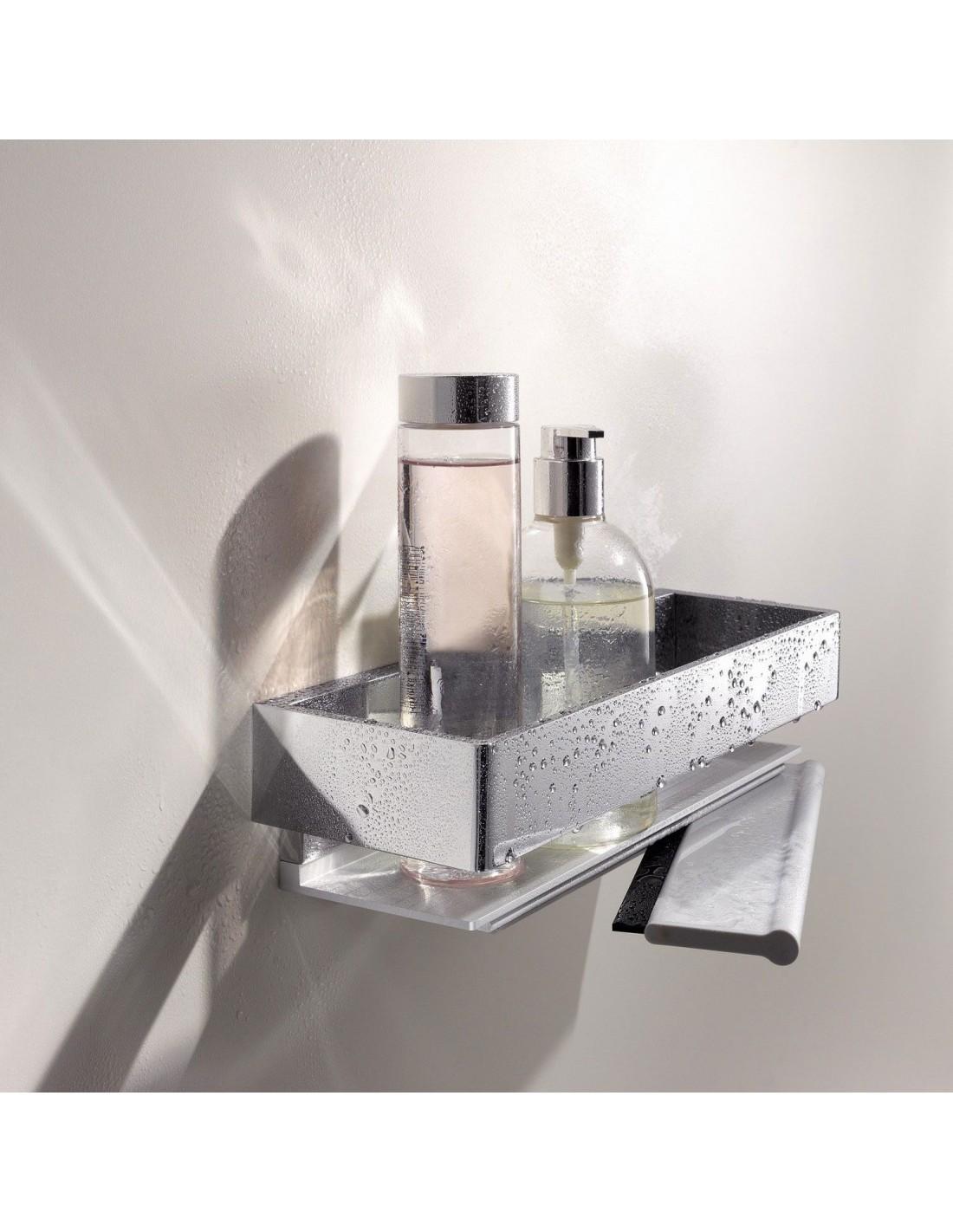 Panier de douche avec raclette de la marque Keuco à retrouver chez Valente Design