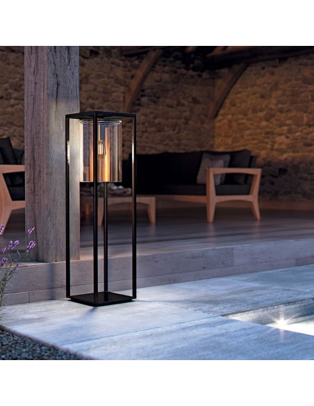 Lampadaire Dome Move noir transparent en ambiance - Royal Botania - Valente Design.