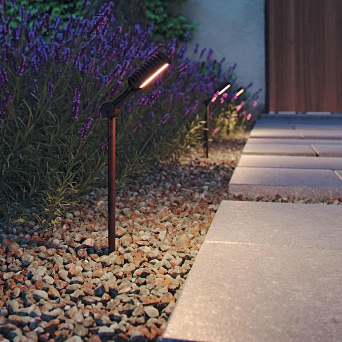 Lampadaire extérieur Spiky sur piquet 100 cm  éclairage cheminement de la marque Royal Botania - Valente Design