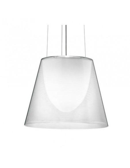 Zoom sur la suspension Ktribe S2 transparente de Philippe Starck pour Flos - Valente Design