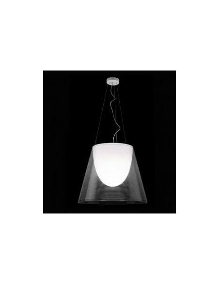 Suspension Ktribe S2 transparente de Philippe Starck pour Flos - Valente Design éclairée