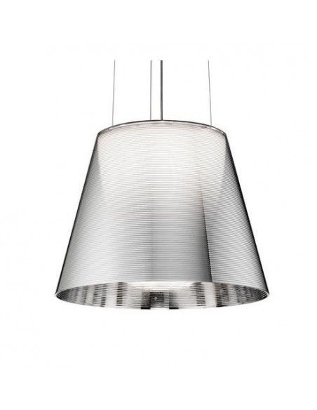 Zoom sur la suspension Ktribe S2 chrome de Philippe Starck pour Flos - Valente Design