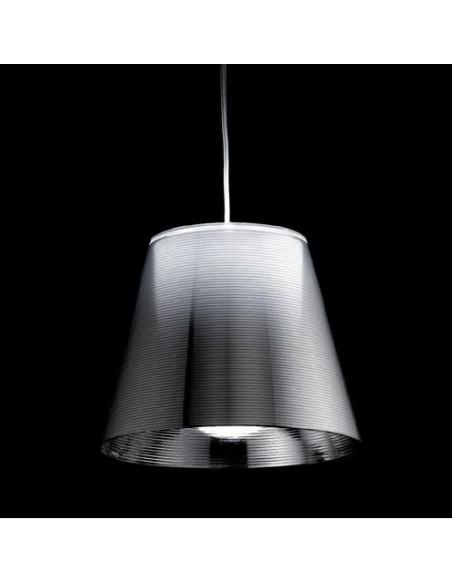 Suspension Ktribe S2 argent allumée de Philippe Starck pour Flos - Valente Design