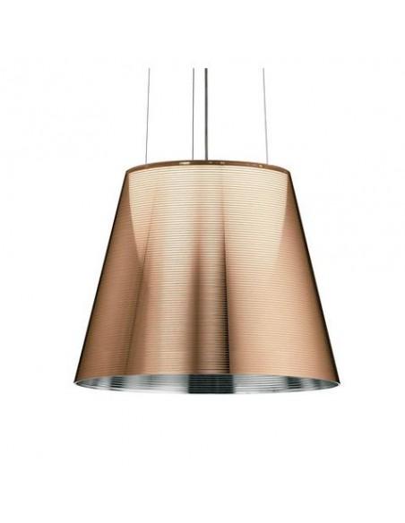 Zoom sur la suspension Ktribe S2 bronze de Philippe Starck pour Flos - Valente Design
