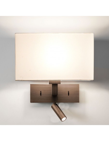 Applique Park Lane LED Reader bronze  abat-jour blanc  astro lighting