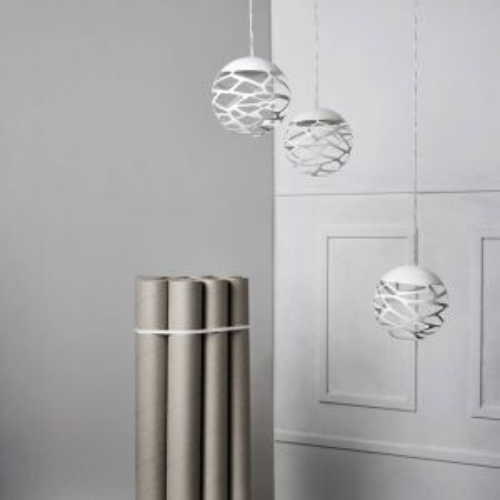 Suspension multiple kelly cluster 3 spheres en bouquet