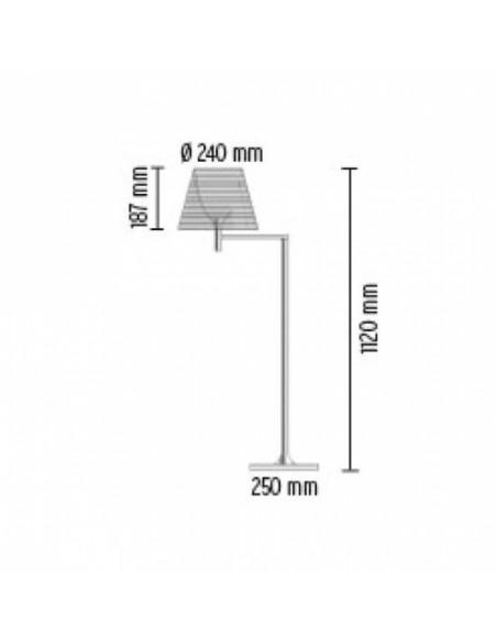 Lampadaire Flos Ktribe F1 plan dimensions designé par Philippe Starck pour la marque Flos - Valente Design