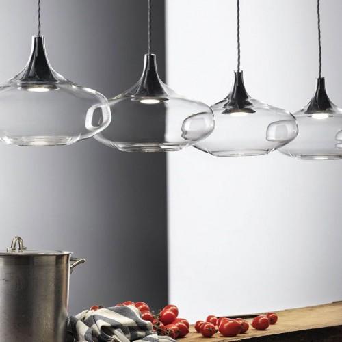 SuspensionNostalgia Glass Large 5 lampes sur patère linéaire