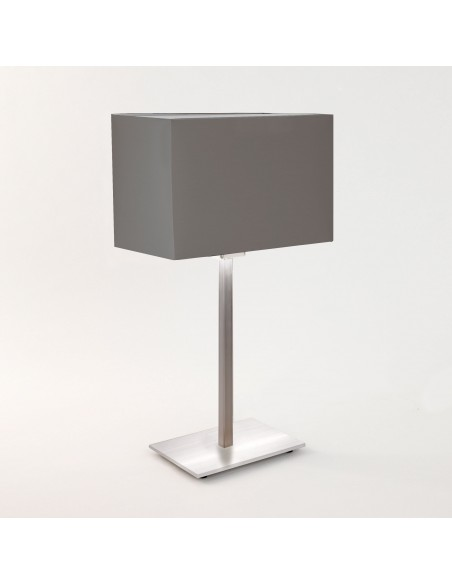 Lampe de table Park Lane finition nickel mat et abat jour gris astro lighting