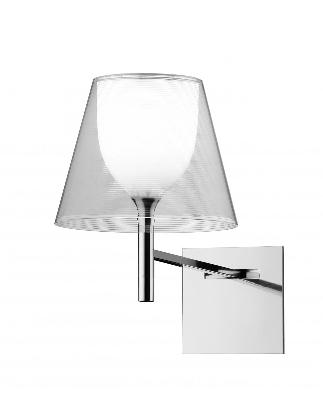Applique pour lampe Ktribe W transparente de Philippe Starck pour Flos - Valente Design