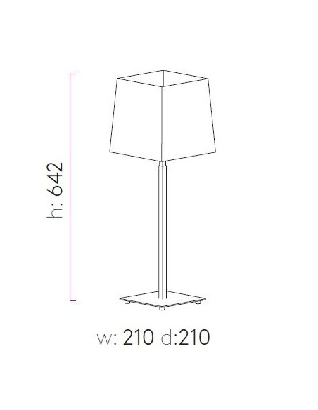 Lampe de table Azumi nickel poli