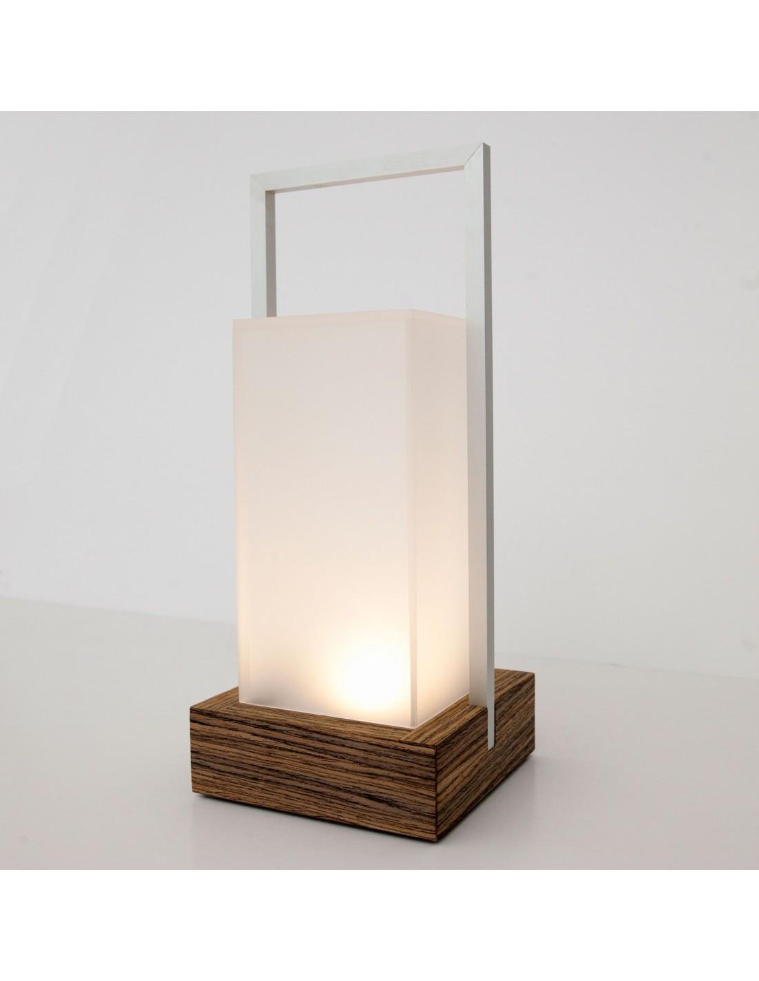 Lampe de table sans fil outdoor Codega finition bois Viabizzuno - Valente Design