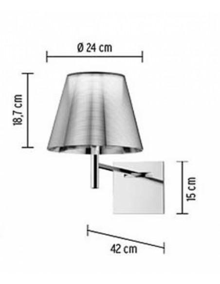 Schéma de l'applique pour lampe Ktribe W de Philippe Starck pour Flos - Valente Design