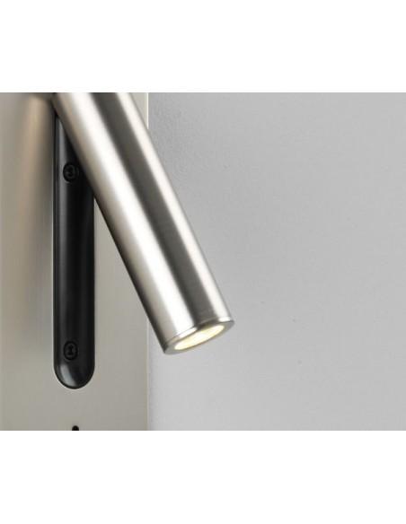 Applique Fuse Switched LED Astro Lighting nickel mat détails - Valente Design