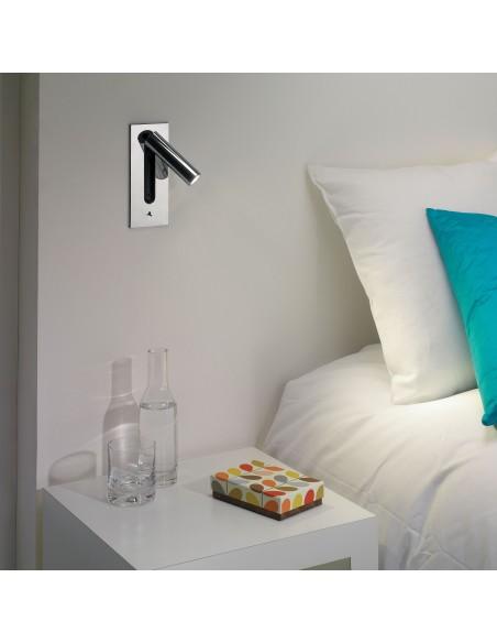 Applique Fuse Switched LED Astro Lighting chrome poli mise en scène - Valente Design