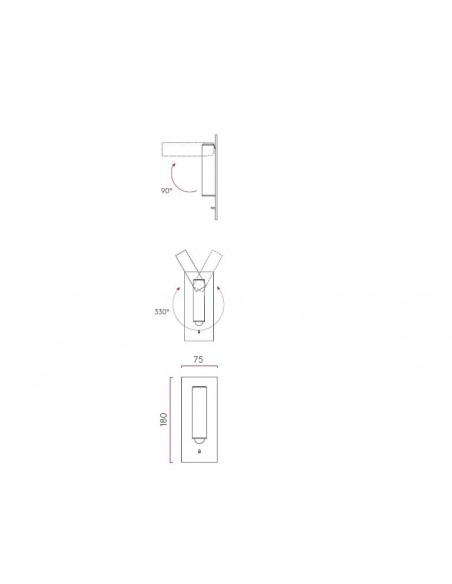 Applique Fuse Switched LED  Astro Lighting plan - Valente Design