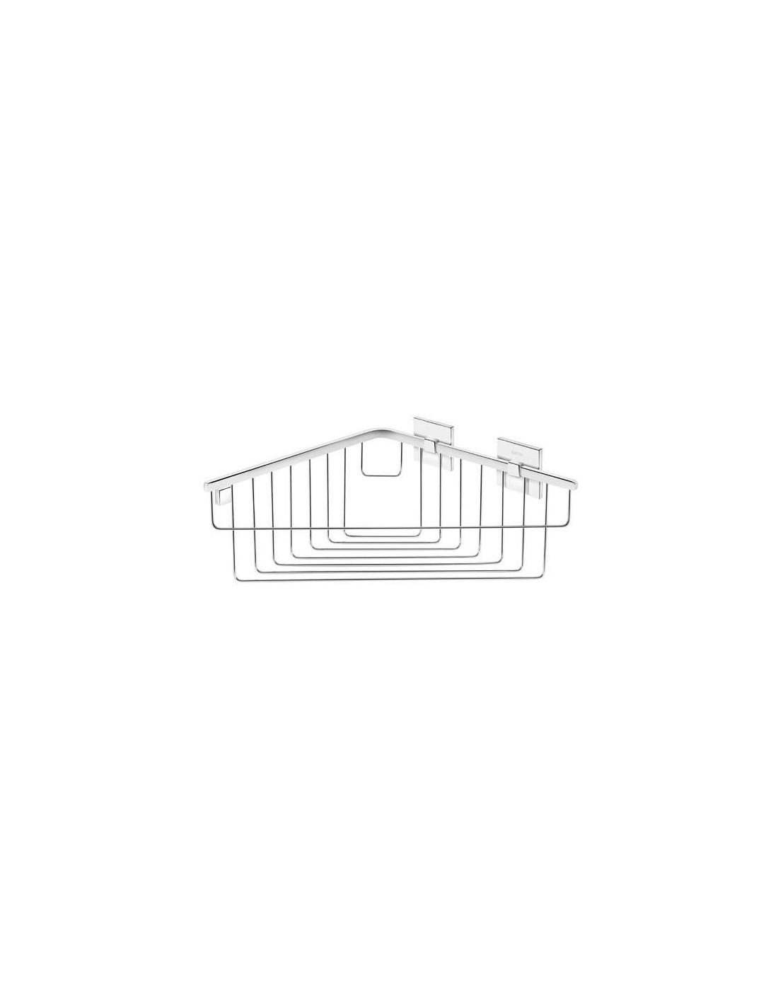 panier de douche d 39 angle coller duo square par bath. Black Bedroom Furniture Sets. Home Design Ideas
