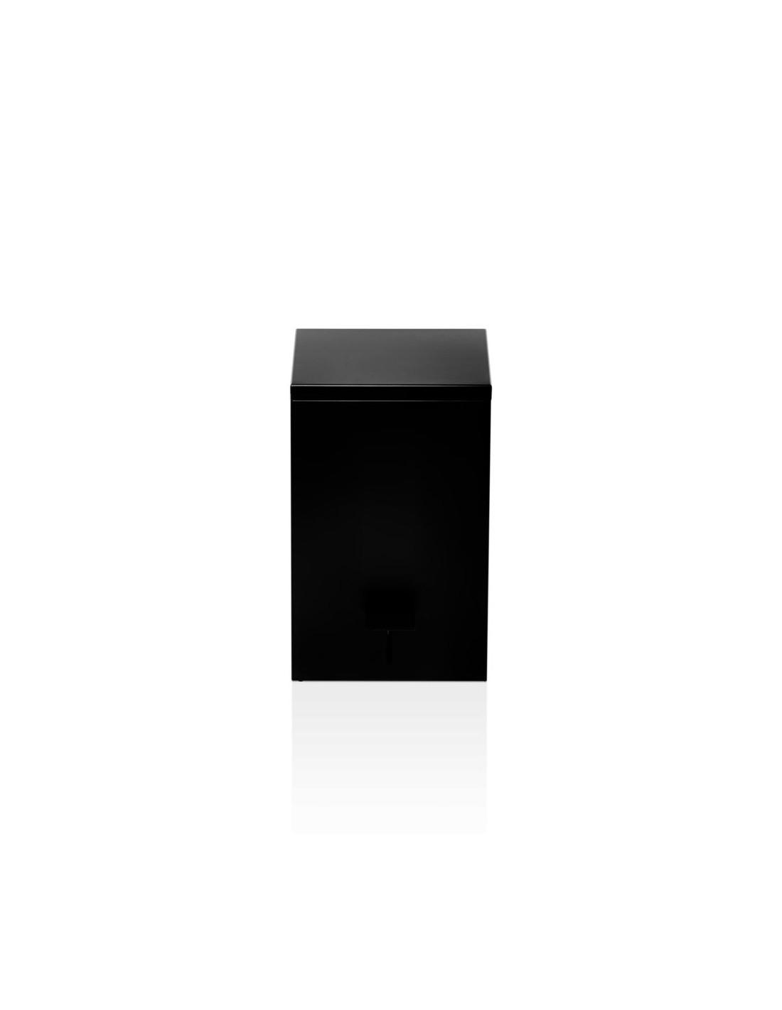 Poubelle TE 70 softclose carrée à pédale noire  Decor Walther