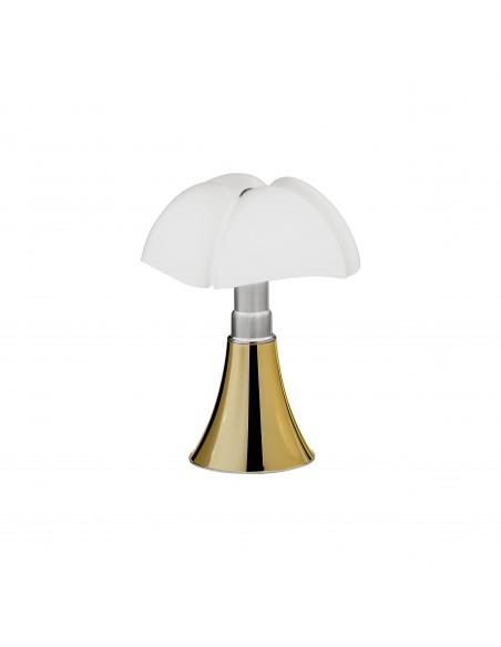 Lampe de table Minipipistrello doré - Martinelli Luce Valente Design Gae Aulenti