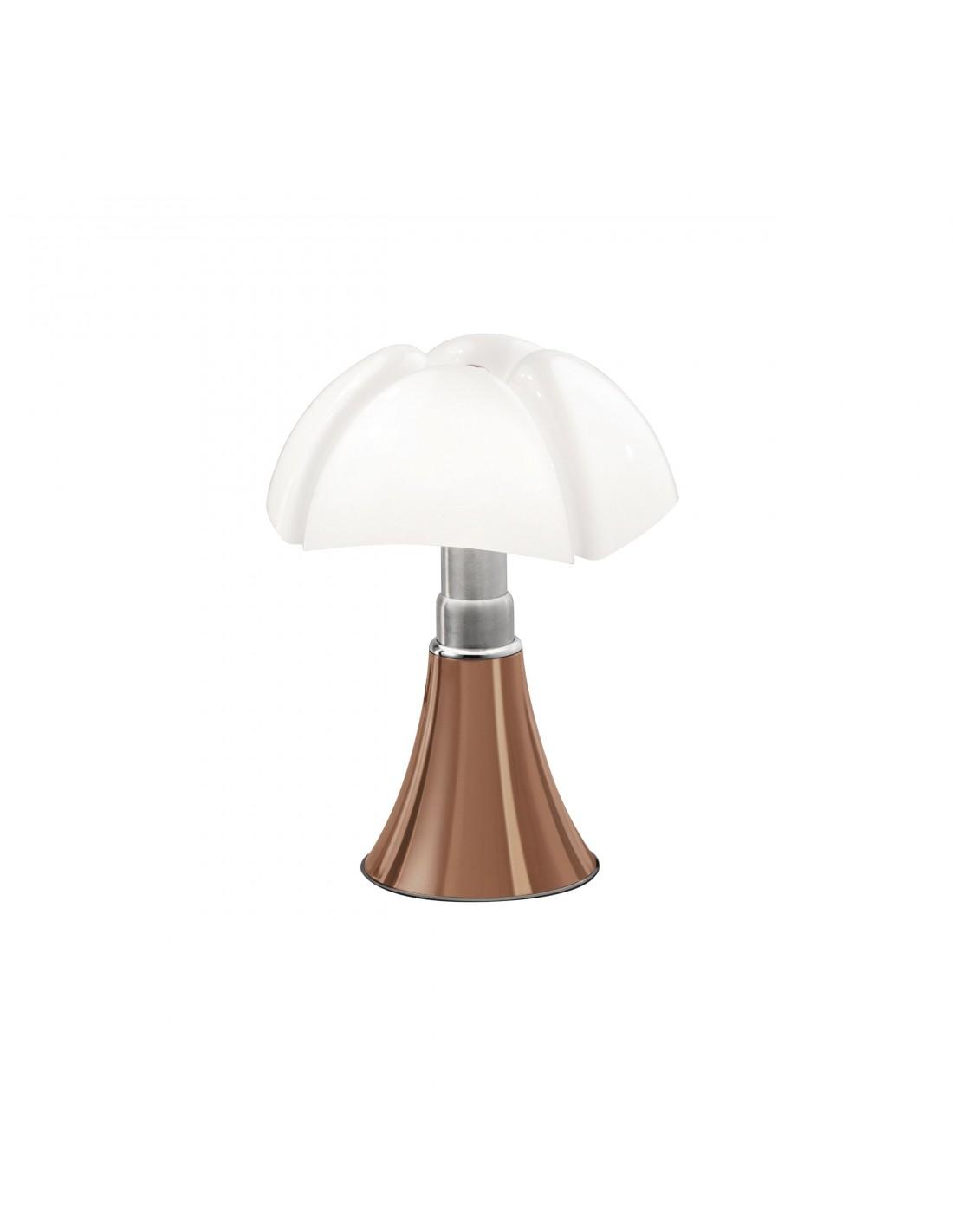 Lampe de table Minipipistrello cuivre - Martinelli Luce Valente Design Gae Aulenti