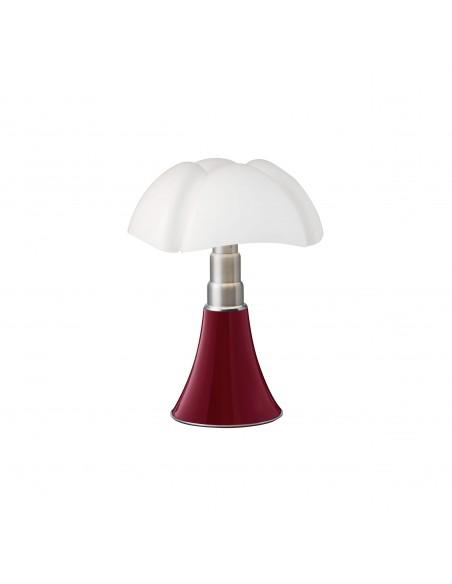 Lampe de table Minipipistrello rouge pourpre - Martinelli Luce Valente Design Gae Aulenti