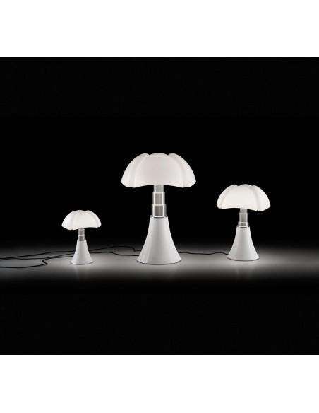 Lampe de table Pipistrello blanche Martinelli Luce Valente Design Gae Aulenti 3 tailles