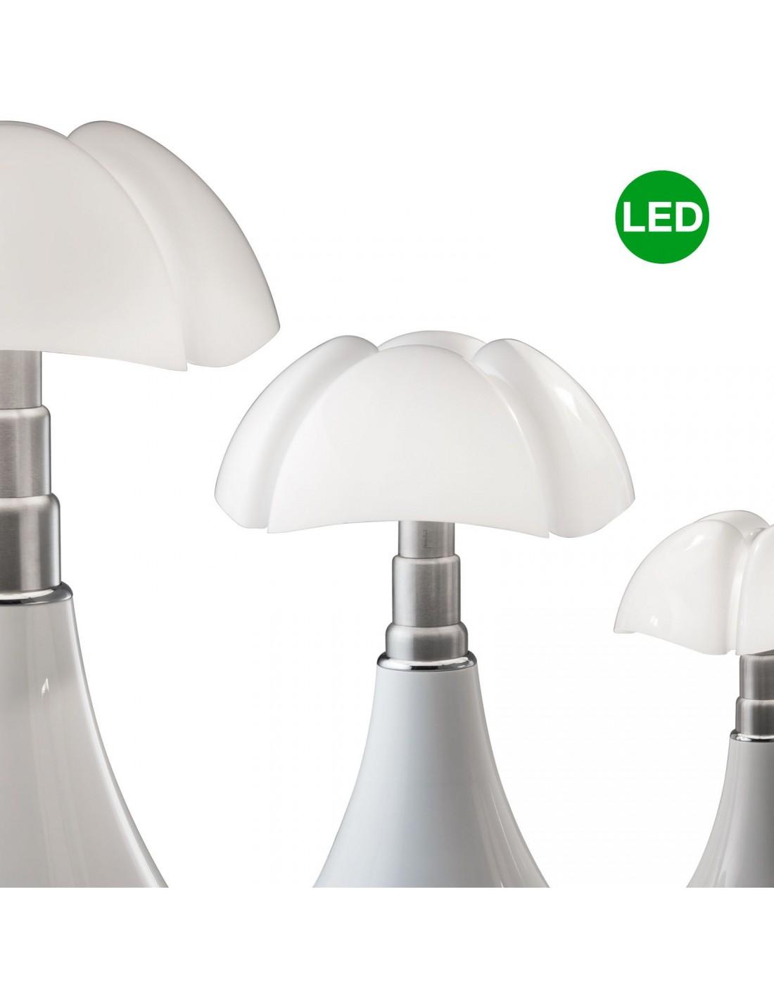 Lampe de table Pipistrello Medium LED blanche - Martinelli Luce Valente Design Gae Aulenti