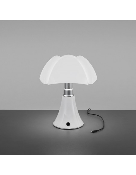 Lampe de table Minipipistrello LED sans fil blanche vue d'ensemble