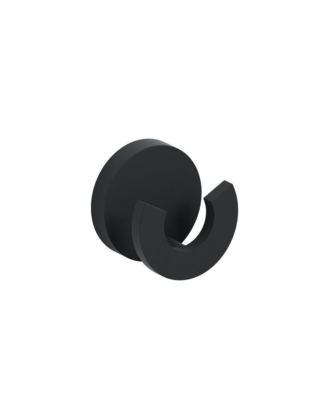 patère double flat en finition  noire. pour la marque Clou