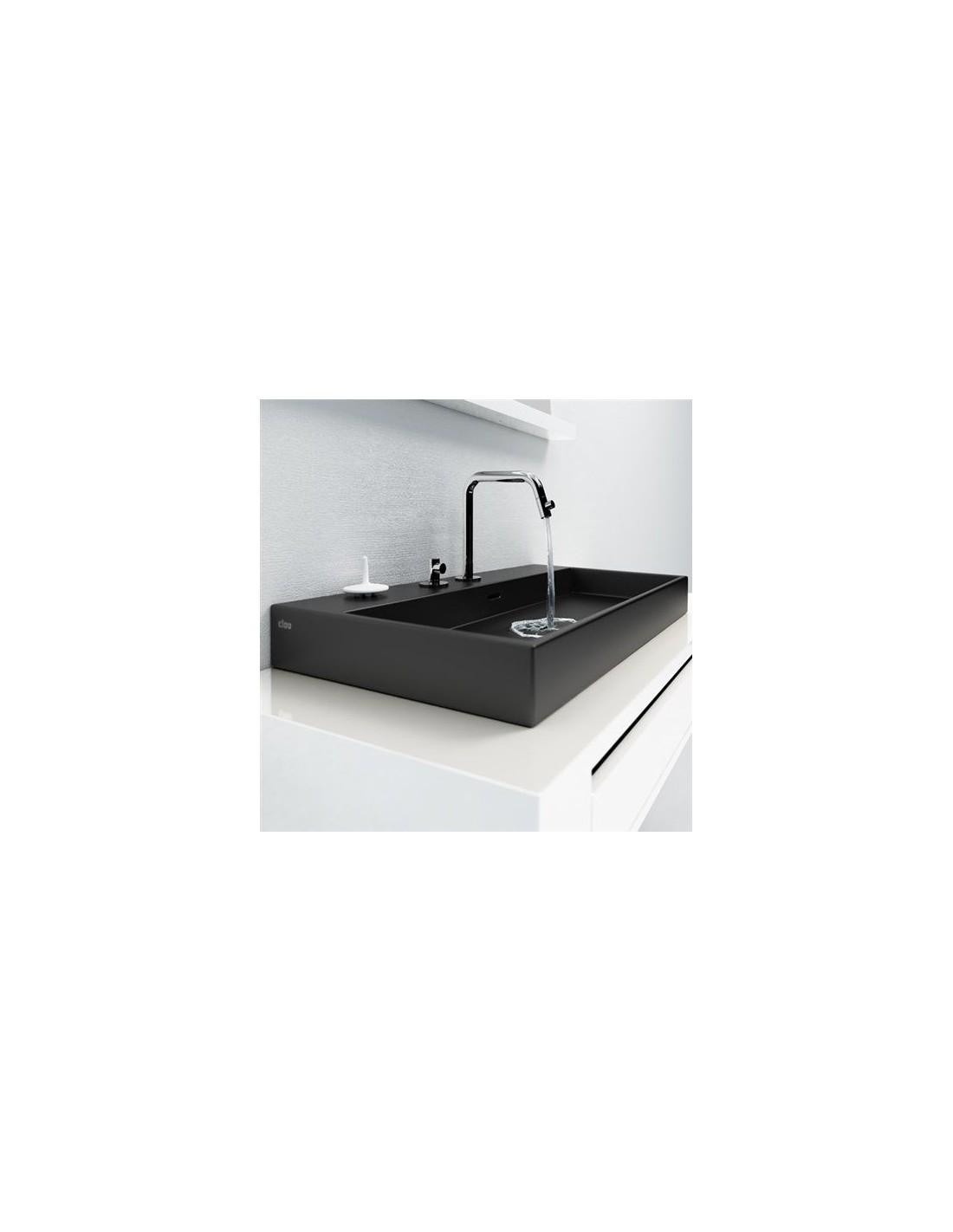 vasque 50 cm wash me en c ramique noire pour la marque clou. Black Bedroom Furniture Sets. Home Design Ideas