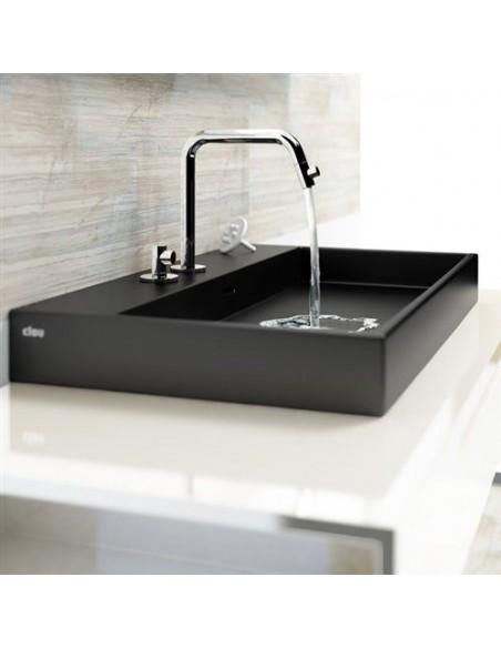 Vasque 50 cm Wash Me en céramique noire pour la marque Clou