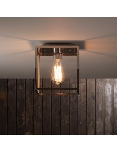 Plafonnier extérieur Box mise en scène nickel astro lighting