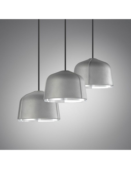 luminaires suspension Arumi mise en situation aluminium